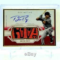 2020 Topps Definitive Buster Posey Framed Auto Patch GIA 1/1 FAC-BP Giants