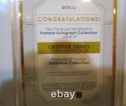 2020 Topps Definitive Chipper Jones Gold Frame On Card Auto 1/10 SSP BRAVES 1/10