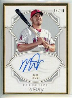 2020 Topps Definitive Collection Framed Autograph Mike Trout Auto /10