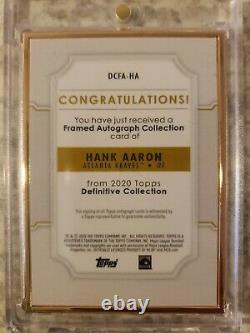 2020 Topps Definitive Hank Aaron Gold Framed Auto 1/10 HOF ON CARD BRAVES