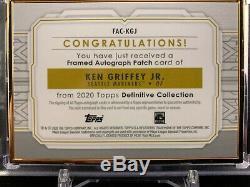 2020 Topps Definitive Ken Griffey Jr. Gold Framed Logo Patch Autograph Auto 1/1