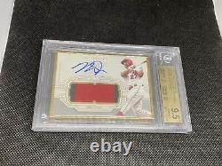 2020 Topps Definitive Mike Trout Gold Framed Patch Auto /10 BGS 9.5/10 Angels