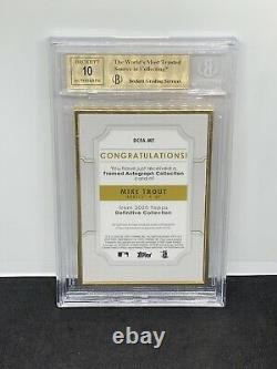 2020 Topps Definitive Mike Trout Gold Framed Red Auto 1/1 BGS 9.5/10 Angels Hot