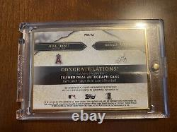 2020 Topps Gold Label Framed Dual Autograph Mike Trout Ronald Acuña Jr. /10 Auto
