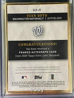 2020 Topps Gold Label Gold Framed Juan Soto Autograph 41/50 Auto Nationals