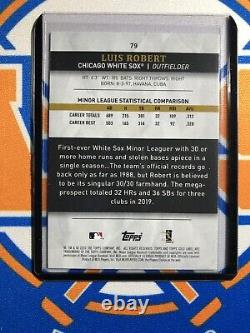 2020 Topps Gold Label Redemption Blue Parallel Framed Autograph Luis Robert RC