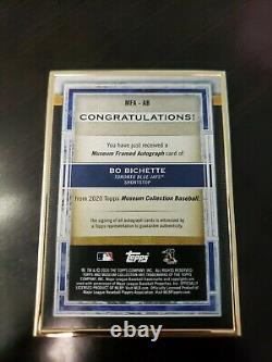 2020 Topps Museum Collection Bo Bichette Rookie Gold Frame Bronze Ink Auto 07/10