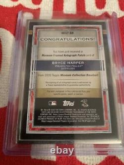 2020 Topps Museum Collection Bryce Harper 1/1 Framed Autograph Patch