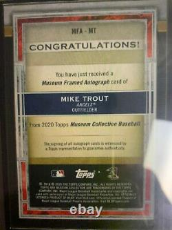 2020 Topps Museum Collection Framed Mike Trout Silver Ink AUTO 1/5 Angels