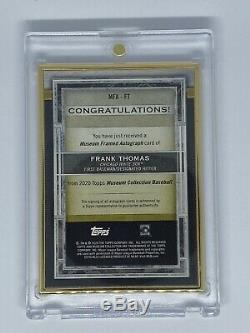 2020 Topps Museum Collection Frank Thomas Gold Frame Gold Auto #4/10 White Sox