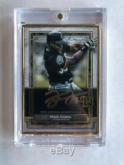 2020 Topps Museum Collection Frank Thomas Gold Frame On Card Gold Auto #d 1/10