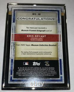 2020 Topps Museum Collection Kris Bryant Silver Framed Auto #7/15 Cubs Case Hit