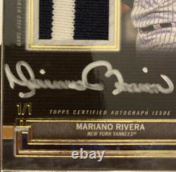 2020 Topps Museum Collection Yankees Mariano Rivera Gold Framed Patch/Auto 1/1