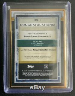 2020 Topps Museum Gold Museum Framed ICHIRO On-Card AUTO 05/10 Case Hit