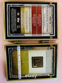 2020 Topps Museum Harper & Hoskins Dual Auto Patch Gold Framed Booklet 1/1 Rare