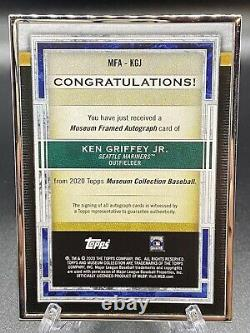 2020 Topps Museum Ken Griffey Jr. Auto (Clean) Framed Metal Card 10/15
