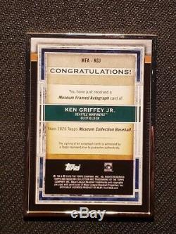 2020 Topps Museum Ken Griffey Jr. Auto Framed Metal Card /15