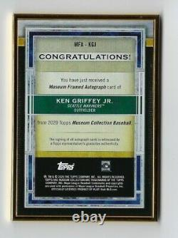 2020 Topps Museum Ken Griffey Jr. Gold Framed Auto 8/10 Mariners