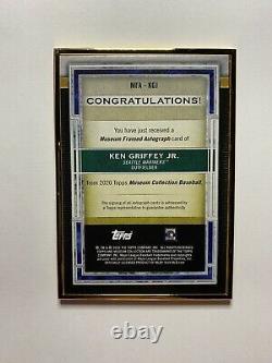 2020 Topps Museum Ken Griffey Jr On Card Auto /10 Gold Framed