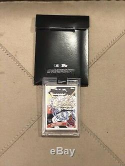 2020 Topps Project 2020 #4 Mike Trout Los Angeles Angels Ermsy GOLD FRAME 1/1