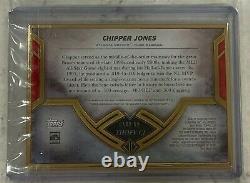 2020 Topps Transcendent Hall of Fame Chipper Jones Gold Framed Auto 15/25