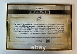 2020 Topps Transcendent Hank Aaron Gold Frame Auto 7/15hammerin Hank