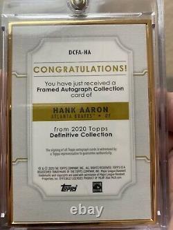 2020 Topps definitive Hank Aaron Gold Frame Purple Auto 1/5
