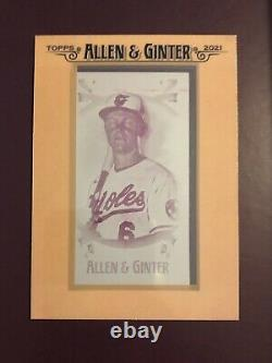 2021 Allen & Ginter Ryan Mountcastle Magenta Printing Plate 1/1 #12 RC Orioles