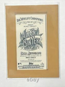 2021 TOPPS ALLEN & GINTER MIKE TROUT GOLD FRAMED ON CARD AUTO MINI Autograph