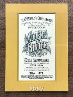 2021 Topps Allen & Ginter Andrew McCutchen Uncle Larry Framed Mini Autograph
