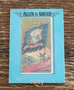 2021 Topps Allen & Ginter Framed Mini 1888 Original FLAGS OF THE STATES N11 #1/1