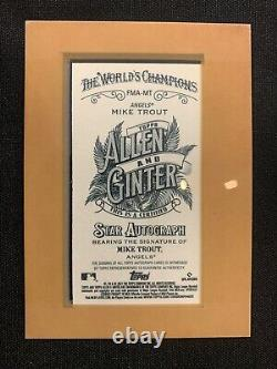 2021 Topps Allen & Ginter Mike Trout Gold Framed On Card Auto Mini Ssp