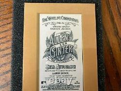 2021 Topps Allen & Ginter Mini Auto Autograph #FMA-AJ Aaron Judge Yankees