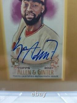 2021 Topps Allen and Ginter Jo Adell Mini Framed Auto Rookie Card RC