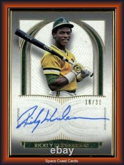2021 Topps Definitive GOLD FRAME Rickey Henderson Auto #d /30 Oakland As