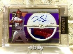 2021 Topps Definitive Mike Trout Gold Frame Prime Patch Auto 4/10