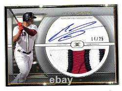 2021 Topps Definitive Rafael Devers 14/25 framed auto jumbo patch card Red Sox