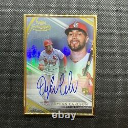 2021 Topps Gold Label Dylan Carlson Gold Frame Rookie Auto! St. Louis Cardinals