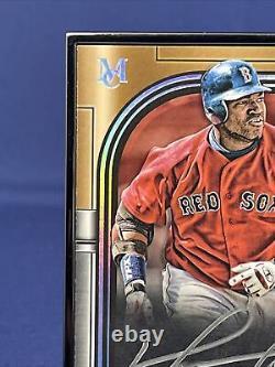 2021 Topps Museum Collection Baseball David Ortiz 3/5 Black Museum Frame Auto