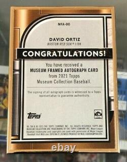 2021 Topps Museum Collection DAVID ORTIZ Framed Gold Ink auto 6/10 RED SOX