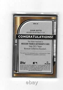 2021 Topps Museum Collection JUAN SOTO Silver Framed Auto #1/15 CASE HIT