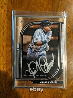 2021 Topps Museum Collection Miguel Cabrera Framed Auto #/15