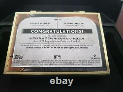 2021 Topps Museum Framed dual auto patch book Acuna / Freeman 1/1