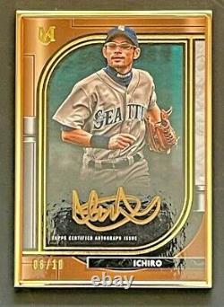 2021 Topps Museum gold framed auto 6/10 Ichiro MLB sports card