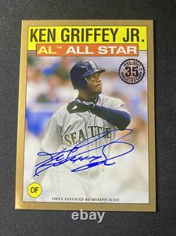 2021 Topps Series 2 Ken Griffey Jr Gold On Card Auto #14/25! 86AS-KG HOF Auto