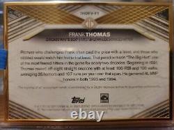 2021 Topps Transcendent Hall of Fame Auto FRANK THOMAS Gold Frame Variation