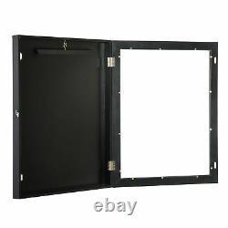 35 Jersey Display Case Lockable Shadow Box Frame Football Baseball Basketball