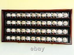 4 Baseball Bat & Ball Cabinet Display Case Wall Mount Bat Rack Cube Display