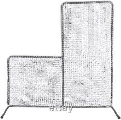 7x7 Baseball Pitching L-Screen Net&Frame Pitcher Protector Safety Training Aid