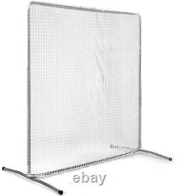 7x7 Baseball Pitching Screen Net&Frame Pitcher Protector Safety Training Must